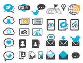 современные коммуникации иконки — Cтоковый вектор