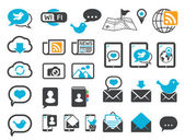 Icônes de communication moderne — Vecteur