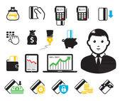 Iconos-tpv y tarjeta de crédito — Vector de stock