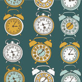 Retro alarm clocks — Stockvector