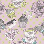 Love tea background — Stock Vector