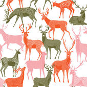 Deer pattern — Stock Vector