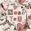 Wektor stockowy : Assorted illustration of valentine symbols