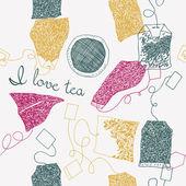 茶袋的插图 — 图库矢量图片