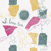 Çay torba çizimi — Stok Vektör