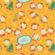 Royalty-Free Stock Imagem Vetorial: Happy little boys and girls pattern