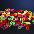 Stock Photo: Magnetic Alphabets