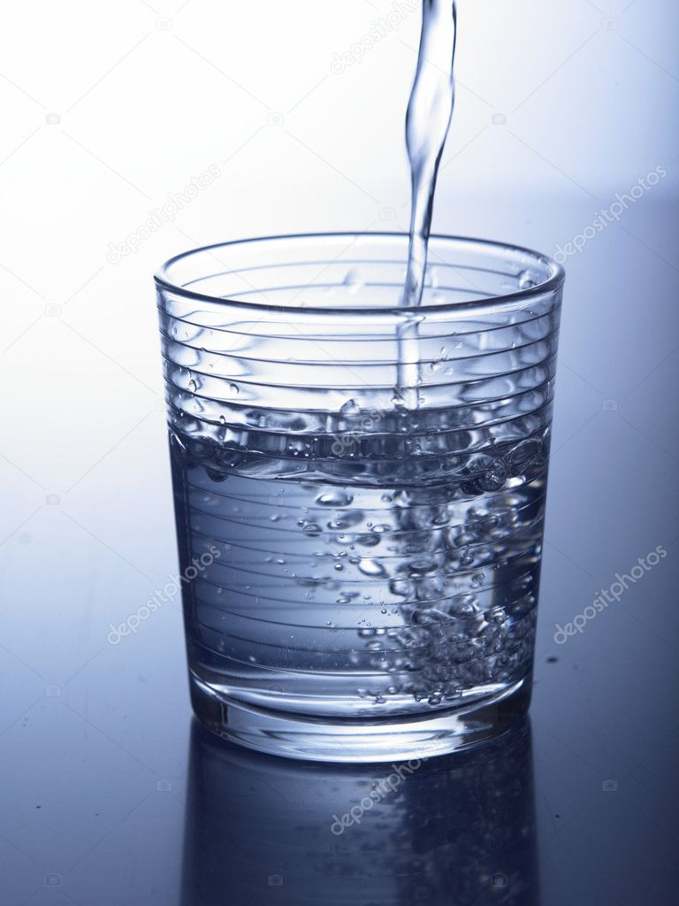 Water poured into a glass. — Stock Photo #8276863