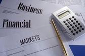 Finacial report — Stock Photo