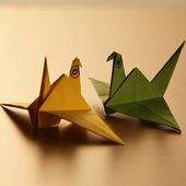 Origami bird — Stock Photo