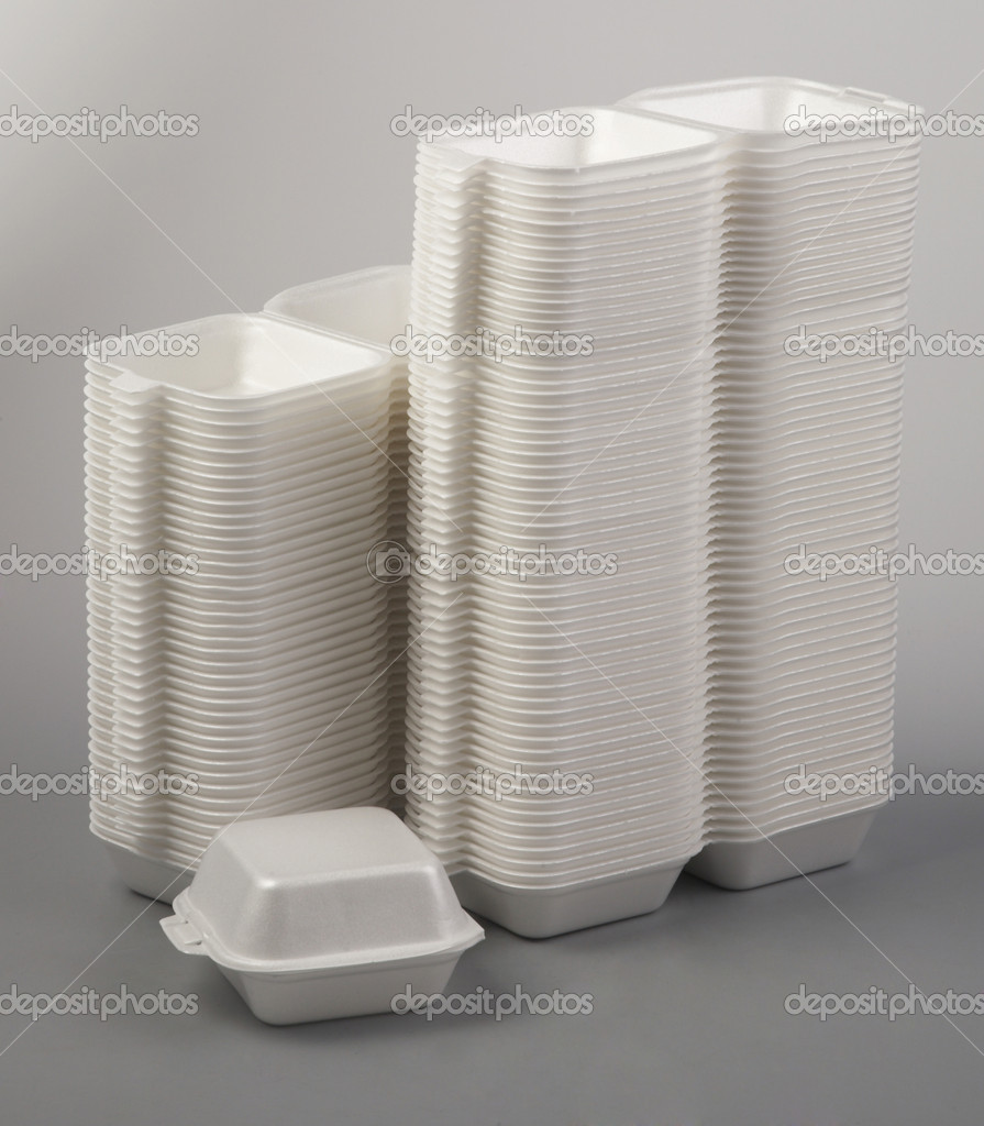 Styrofoam meal box.  Stock Photo #8838221