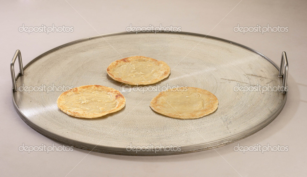 Indian staple food made of wheat flour — Stock Photo #8838392