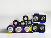 Few different type of battery — Foto Stock