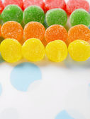 Multi color of soft candy coated with sugar — Stock Photo