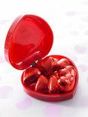 Chocolate en forma de corazón — Foto de Stock