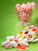 Close up of gummy candy on the cup — Stock Photo
