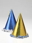 Two party hats on the white background — Stock Photo