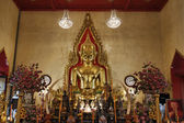 Thailand, Bangkok, Chinatown District, Yaowarat Road, Traimitwitthayaram Temple (Wat Traimit), the 5,5 ton Golden Buddha (Phra Sukhothai Traimit) — Stock Photo