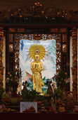 Thailand, Bangkok, Chinatown, Buddhist temple, golden Buddha statue — Photo