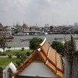 Thailand, Bangkok, view of the Chao Praya river and the skyline of the city seen from the Arun Temple - Stock fotografie