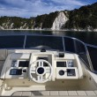 Stock Photo: Italy, Tuscany, Elba Island, luxury yacht Azimut 75', driving consolle on the flybridge