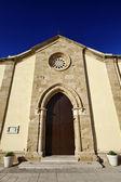 意大利西西里岛,marzamemi (锡拉库扎省)、 旧教堂的正面 — 图库照片