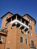 Italy, Rome, Garbatella, old building facade — Stock Photo