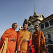 Thailand, Bangkok, Imperial Palace, Imperial city, Buddhist monks at the Palace — Stock Photo