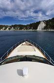 Italia, toscana, isola d'elba, vista della costa da uno yacht di lusso — Foto Stock