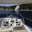 Italy, Tuscany, Elba Island, luxury yacht Azimut 75, flybridge — Stock Photo #8073561