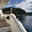 Italy, Tuscany, Elba Island, view of the coastline from a luxury yacht — Stock Photo