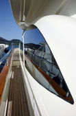 Italy, Tuscany, Elba Island, luxury yacht Azimut 75' — Stock Photo