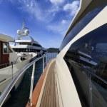 Italy, Elba Island, view of luxury yachts in Portoferraio port — Stock Photo #8180488