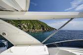 Italy, Elba Island, luxury yacht Azimut 75, flybridge — Stock Photo