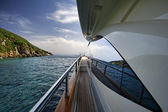 Italy, Tuscany, Elba Island, luxury yacht Azimut 75 — Stock Photo