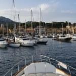 Italy, Elba Island, view of Porto Azzurro from a luxury yacht — Stock Photo #8291727