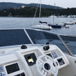 Italy, Tuscany, Elba Island, luxury yacht Azimut 75, flybridge — Stock Photo