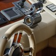 Italy, luxury yacht Azimut 75', dinette, driving consolle — Stock Photo #8321524
