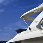 Italy, Tuscany, Elba Island, luxury yacht Azimut 75, flybridge — Stock Photo