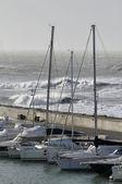 Italy, Siciliy, Marina di Ragusa, view of luxury yachts — Stock Photo