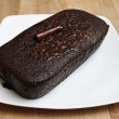 Chocolat cake made with red wine and cinnamon — Stock Photo