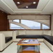 Italy, Elba Island, luxury yacht Azimut 75, dinette — Stock Photo