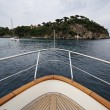 Italy, Elba Island, view of the coastline from a luxury yacht — Stock Photo