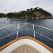 Italy, Elba Island, view of the coastline from a luxury yacht — Stock Photo #8609323