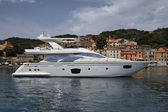 Italy, Elba island, Marina di Campo, luxury yacht Azimut 75 — Stock Photo