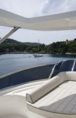 Italy, Elba Island, view of the coastline from a luxury yacht — Stock Photo