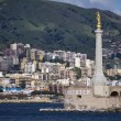 Italy, Sicily, Messina, the city and the Madonna statue - Photo
