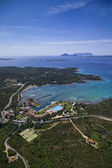 Italy, Sardinia, aerial view of the Emerald Coast — Stock Photo