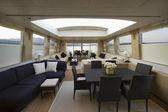 Italy, Sardinia, 35 meters luxury yacht, dinette — Stock Photo