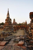 THAILAND, Ayutthaya, the ruins of the city's ancient temples — Foto de Stock